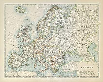 Cartina D Italia 1915.L Europa Mostrata Prima Della Prima Guerra Mondiale Johnston 1915 Mappa Vintage Antica Cartina Stampata Dell Europa Amazon It Casa E Cucina