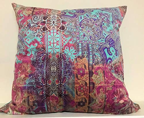 Poetic Wanderlust By Tracy Porter PQW1772DP1-1100 18 Square Printed Velvet Decorative Pillow, Pillow, Emmeline