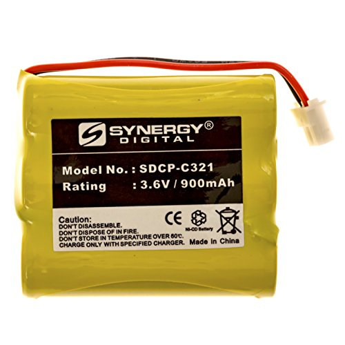 SDCP-C321 - NI-CD, 3.6 Volt, 900 mAh, Ultra Hi-Capacity Battery - Replacement Battery for Bell South, Cobra, GE TL96514, NW Bell, Sony BP-T23, Sanyo GES PCF01 Cordless Phone Batteries (Nicad Sanyo Batteries)