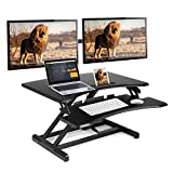 Best Standing Desks - SIMBR Standing Desk Converter fits Dual Monitor, Height Review