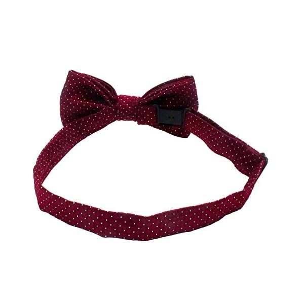 YOY Handcrafted Adorable Pet Bow Ties – 6-Pack Adjustable Neck Tie 11.4″-18.5″ Polka Dots Bowties Dog Collar Neckties Kitty Puppy Grooming Accessories for Doggy Cat, 6 Colors Click on image for further info. 5