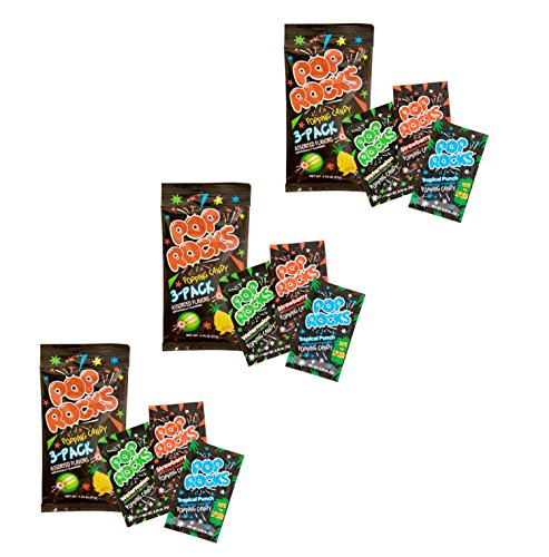 Pop Rocks Popping Candy 3-Pack - Watermelon, Strawperry Tropical Punch (9 Paks (Pop Rock Candy)