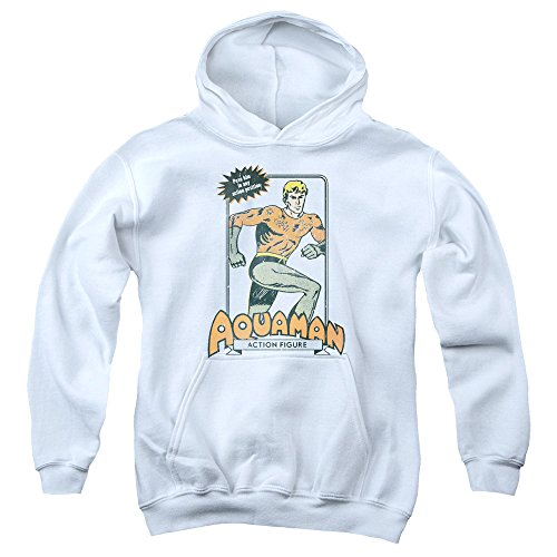 DC Comics Am Action Figure Big Boys Pullover Hoodie White XL