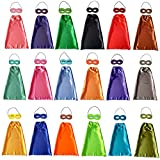 KOMODOMO Comics Cartoon Heros Dress Up Costumes 18 Satin Capes with Felt Masks Children Capes for Kids