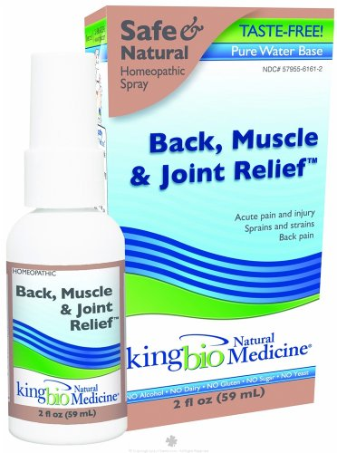 King Bio Homeopathic Natural Medicine Back Muscle and Joint Relief 2 oz