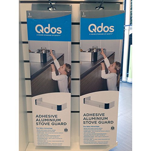 QDOS Adhesive Aluminum Stove Guard - Complements Modern Kitchen Designs - Fits Cooktops & Most Freestanding Stoves - Protects from Front & Sides - Easy to Install - Quick Removal for Cleaning by Qdos Safety (Image #8)