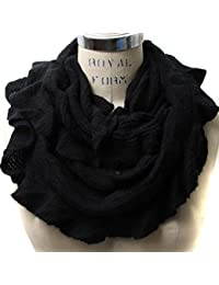 Scarfand's Solid Color Ruffles Infinity Small Neck Wrap