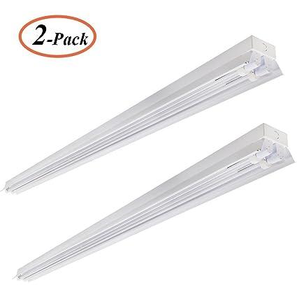 2-Pack, 8FT LED Garage Shop Light, 80W (190W Equivalent), 8000 Lumen ...