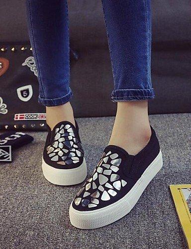 ZQ Zapatos de mujer - Plataforma - Comfort - Mocasines - Exterior / Casual - Semicuero - Plata / Oro , golden-us8.5 / eu39 / uk6.5 / cn40 , golden-us8.5 / eu39 / uk6.5 / cn40 golden-us8 / eu39 / uk6 / cn39