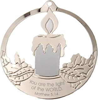"product image for Gloria Duchin Candle Ornament 'You are The Light of The World' Ornament 3 1/2"" Made in USA"