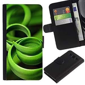 For SAMSUNG Galaxy S3 III / i9300 / i747,S-type® Grass Green Black Nature - Dibujo PU billetera de cuero Funda Case Caso de la piel de la bolsa protectora