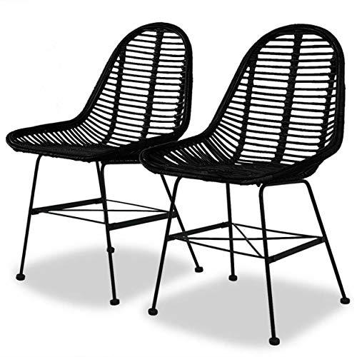 Amazon Com Cj Online Shop Dining Chairs Natural Rattan