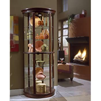 Amazon.com: Pulaski Two Way Sliding Door Curio, 30 by 20 by 80 ...