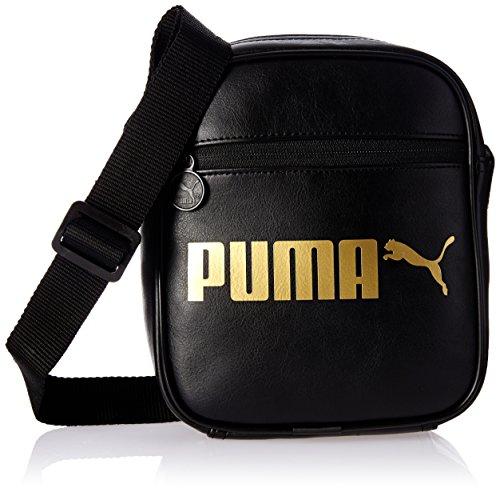 Puma - Bolso bandolera 'Campus Portable' Negro / Dorado