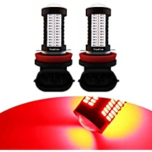 YaaGoo H8 H11 Red LED DRL Driving Fog Light,Replacement of Halogen,360 degree bright,2pcs