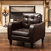 Bowdon Brown Leather Club Chair