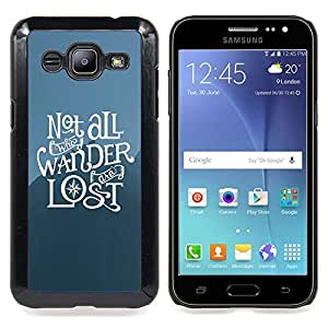 cool statement hipster wander lost deep Caja protectora de pl??stico duro Dise?¡Àado King Case For Samsung Galaxy J2