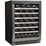 Avallon AWC540SZ 54-Bottle Single Zone Built-In Wine Cooler, Silver