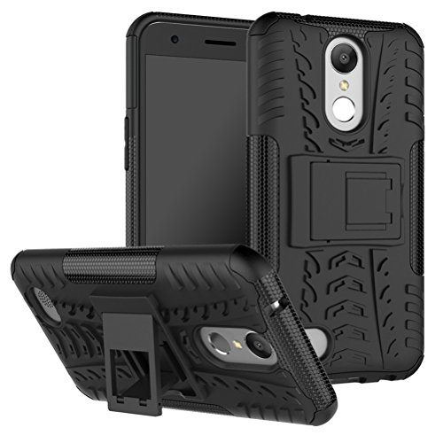 LG K20 V Case, LG K10 2017 Case, LG K20 Plus Case, LG LV5 Case,Yiakeng Shock Absorbing Dual Layer Protective Fit Armor Case Cover Shell For LG K20V / LG Harmony / LG Grace (Black)