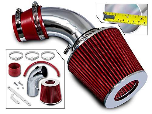 Rtunes Racing Short Ram Air Intake Kit + Filter Combo RED For 01-09 Chrysler PT Cruiser 2.4L I4 Non-Turbo