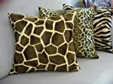 Giraffe Throw Pillow Cover in Gold & Brown.....20 x 20