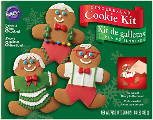 Gingerbread Cookie Decorations (Wilton Gingerbread Boy Cookie Decorating Kit)