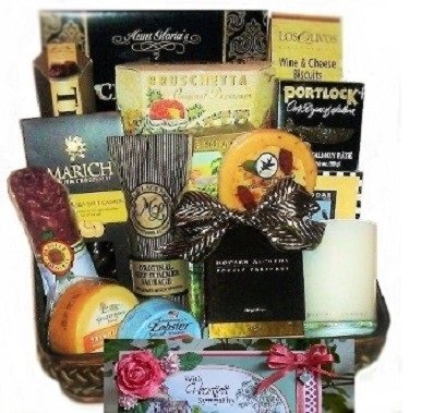 With Sympathy and Boxed Candle Gift by Goldspan Gift Baskets