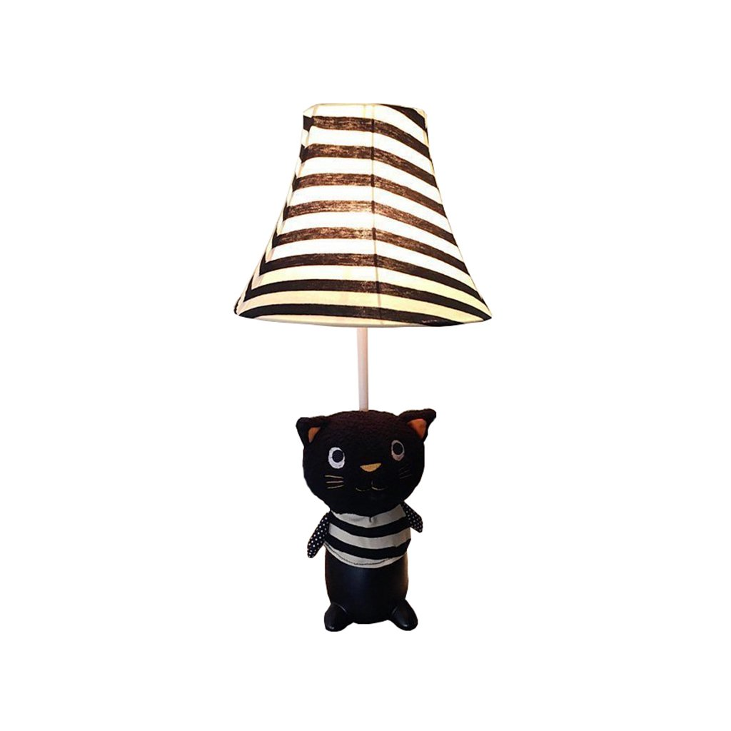 Briskaari Store- Children LED Table Lamp for Bedroom Super Cute Animal Cat Fabric Decoration Desk Lamp for Kids Play Toy Handmade Gift