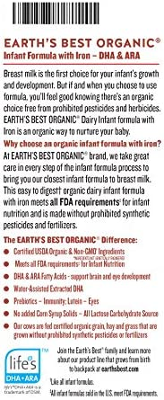 51GT%2BDK0daL. AC - Earth's Best Organic Dairy Infant Powder Formula With Iron, Omega-3 DHA And Omega-6 ARA, 35 Ounce
