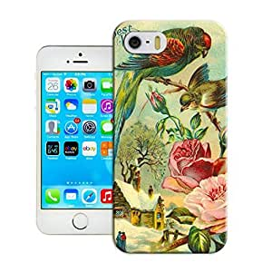 LarryToliver Protective Plastic Cover Shell for Customizable Bird art painting Skin Protector Case with iphone 5/5s