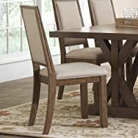 Coaster 105522 Home Furnishings Dining Chair (Set of 2), Weathered Acacia