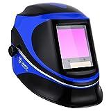Deep Sea Solar Powered Welding Helmet Auto Darkening Professional Hood with Wide Lens Adjustable Shade Range 4/9-13 for Mig Tig Arc Weld Grinding Welder Mask