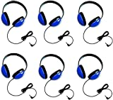 Califone 2800-BL Listening First Headphones in Blue (Set of 6)