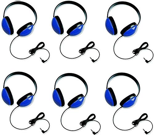 Califone 2800-BL Listening First Headphones in Blue (Set of 6)