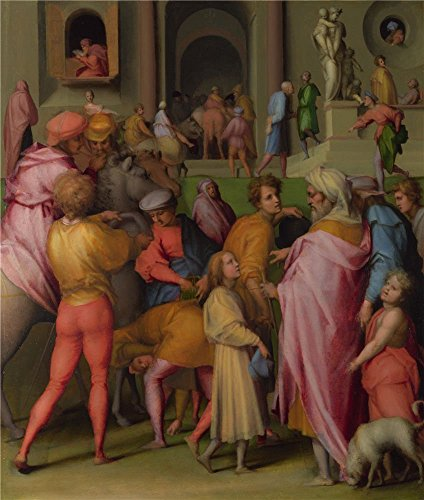 [The Polyster Canvas Of Oil Painting 'Pontormo Joseph Sold To Potiphar ' ,size: 18 X 21 Inch / 46 X 54 Cm ,this Replica Art DecorativePrints On Canvas Is Fit For Garage Artwork And Home Artwork And] (Potiphar Costume)