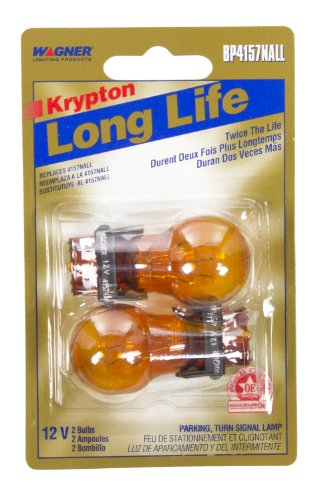 Wagner Lighting BP4157NALL Long Life Natural Amber Miniature Bulb - Card of ()