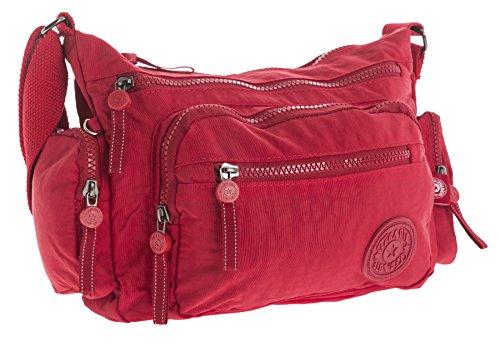 1 para cruzados Messenger Bolso mujer Red de tela Handbag Shop Style Big qT4YvY