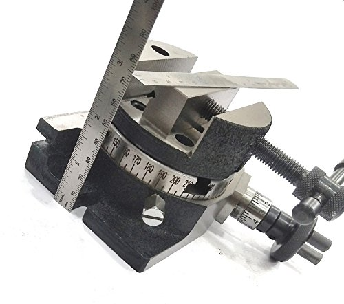 3''/80 MM ROTARY MILLING TABLE WITH 80 MM ROUND VICE VISE & FIXING T-NUTS BOLTS -ENGINEERING TOOLS by Global Tools (Image #3)