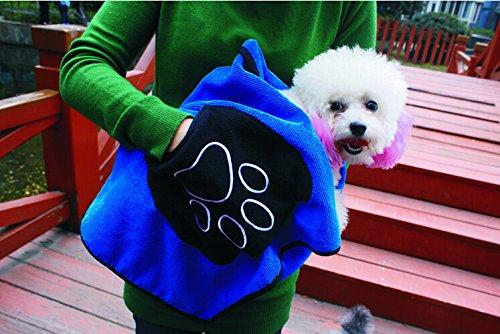 超吸水ペット用タオル ペット 体拭き タオル 犬 猫 ドッグ キャット 手が入れられるポケット付き KB-WATOWEL