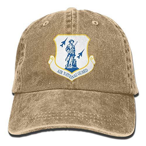 US Air Force Air National Guard Mens Cotton Adjustable Washed Twill Baseball Cap Hat