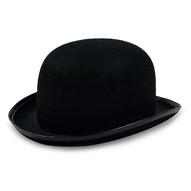 2bdd2751c59 Amazon.com  Colonel Pickles Novelties Derby Hat - Bowler Hat – Black ...