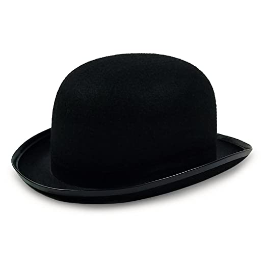 03143c7f Colonel Pickles Novelties Derby Hat - Bowler Hat - Black For Men Women Boys  and Girls