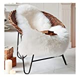 Ultra Soft Faux Sheepskin Fur Rug Environmental Nursery Lambskin Area Shag Baby Chair Cover Seat Pad 28'' x 45''