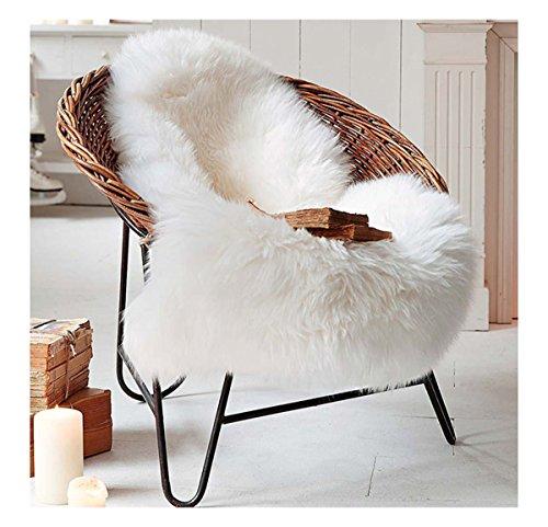 Ultra Soft Faux Sheepskin Fur Rug Environmental Nursery Lambskin Area Shag Baby Chair Cover Seat Pad 28'' x 45'' by KSDN