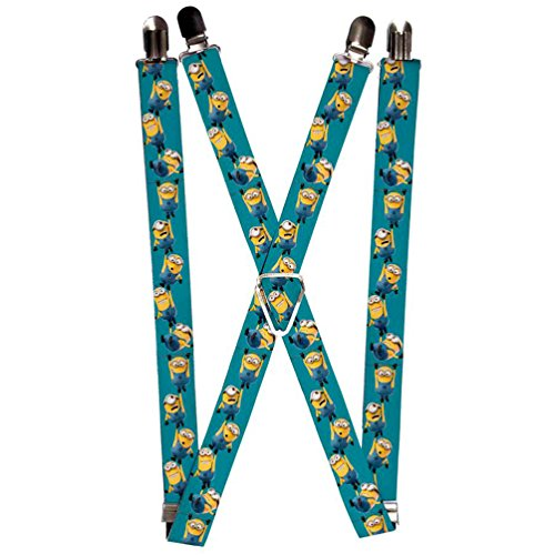 Buckle-Down Suspenders-Hanging Minions Green
