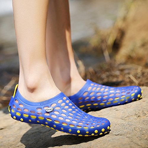 Xing Lin Sandalias De Hombre Nuevas Sandalias Hombre De Baotou Zapatillas Hembra De Plástico Antideslizante Orificio Sandalias De Verano Transpirable Zapatos Calzado De Playa Hombres blue