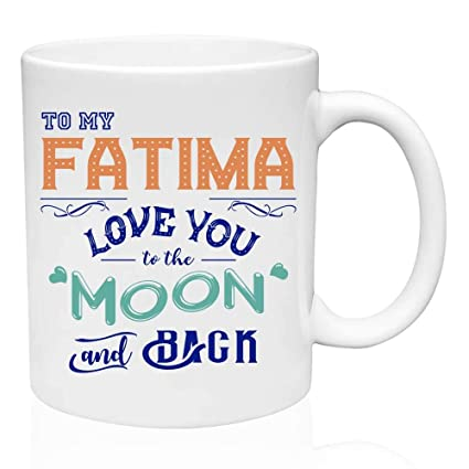 Personalized Gift For Birthday To My Fatima Love You The Moon And Back Funny Gifts