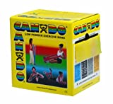CanDo Low Powder Exercise Band, 50 yard roll, Yellow: X-Light