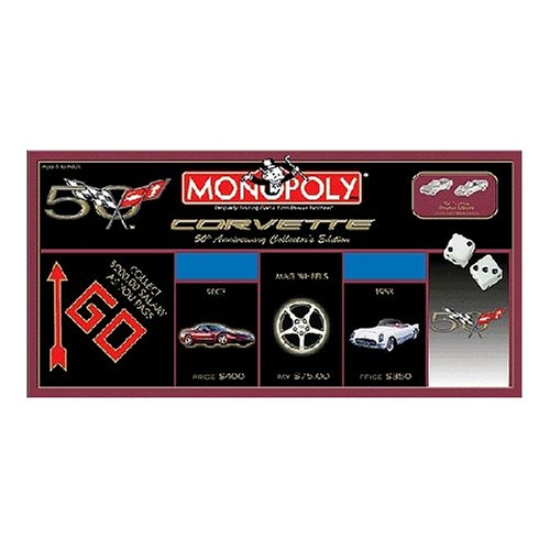 Anniversary Collectors Edition Monopoly - USAOPOLY Corvette 50th Anniversary Collector's Edition Monopoly Board Game