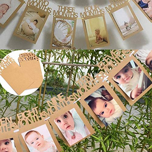Streamers & Confetti - A Boy Girl Baby 1st Birthday Bunting Garland Banner Shower Photo Props Party Decor - Streamers Banners Streamers Confetti Birthday Letter Banner Ocean Decoration Dre ()